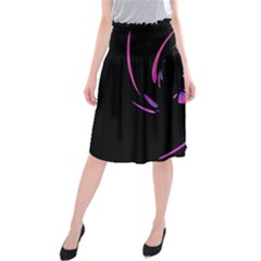 Purple twist Midi Beach Skirt