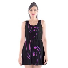 Purple twist Scoop Neck Skater Dress