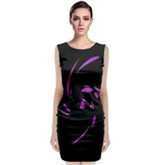 Purple twist Classic Sleeveless Midi Dress