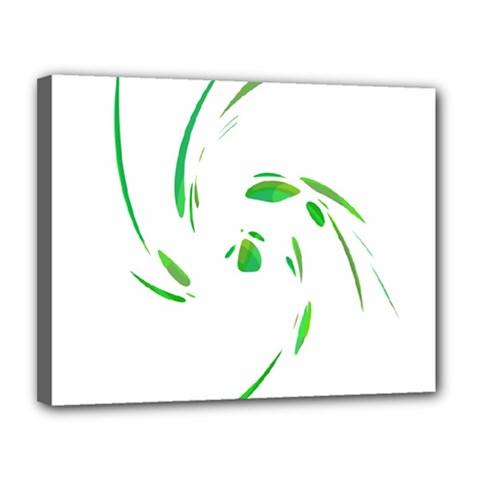 Green twist Canvas 14  x 11