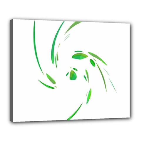 Green twist Canvas 20  x 16