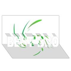 Green twist BEST BRO 3D Greeting Card (8x4)
