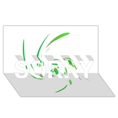 Green twist SORRY 3D Greeting Card (8x4)