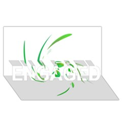 Green twist ENGAGED 3D Greeting Card (8x4)