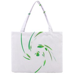 Green twist Mini Tote Bag