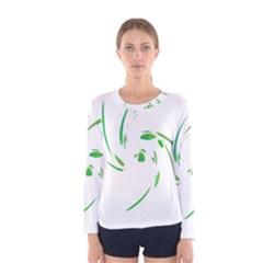 Green twist Women s Long Sleeve Tee