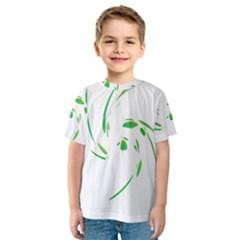 Green twist Kid s Sport Mesh Tee