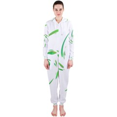 Green twist Hooded Jumpsuit (Ladies)