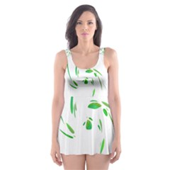 Green Twist Skater Dress Swimsuit