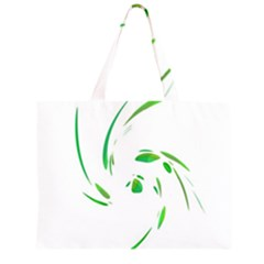 Green twist Large Tote Bag