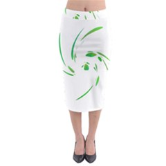 Green twist Midi Pencil Skirt