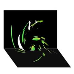 Green Twist Apple 3D Greeting Card (7x5)