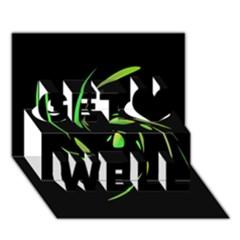 Green Twist Get Well 3D Greeting Card (7x5)