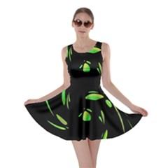 Green Twist Skater Dress