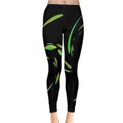 Green Twist Leggings