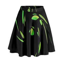 Green Twist High Waist Skirt