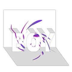 Purple twist BOY 3D Greeting Card (7x5)
