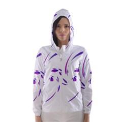 Purple twist Hooded Wind Breaker (Women)