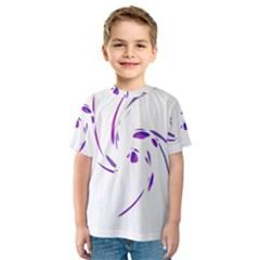 Purple twist Kid s Sport Mesh Tee