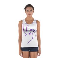 Purple Twist Women s Sport Tank Top