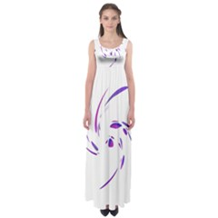 Purple twist Empire Waist Maxi Dress
