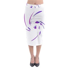 Purple twist Midi Pencil Skirt
