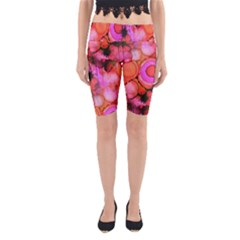 Palm Trees on Sunset Stains Yoga Cropped Leggings