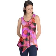 Palm Trees on Sunset Stains Sleeveless Tunic