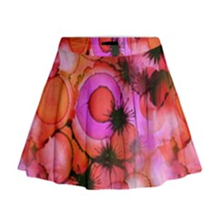 Palm Trees on Sunset Stains Mini Flare Skirt