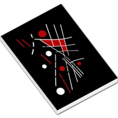 Artistic abstraction Large Memo Pads