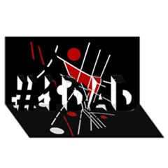 Artistic abstraction #1 DAD 3D Greeting Card (8x4)