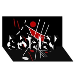 Artistic abstraction SORRY 3D Greeting Card (8x4)