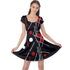 Artistic abstraction Cap Sleeve Dresses