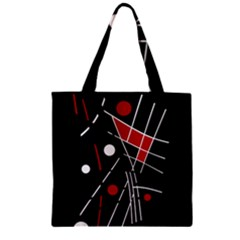 Artistic abstraction Zipper Grocery Tote Bag