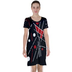 Artistic abstraction Short Sleeve Nightdress