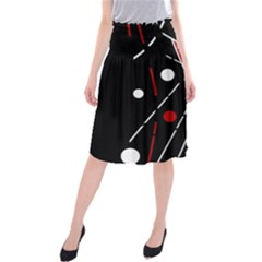 Artistic abstraction Midi Beach Skirt