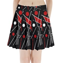 Artistic abstraction Pleated Mini Mesh Skirt(P209)