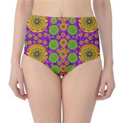 Fantasy Sunroses In The Sun High Waist Bikini Bottoms