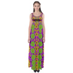Fantasy Sunroses In The Sun Empire Waist Maxi Dress