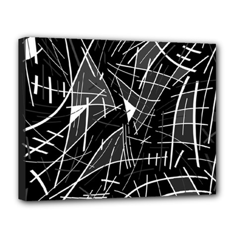 Gray abstraction Canvas 14  x 11
