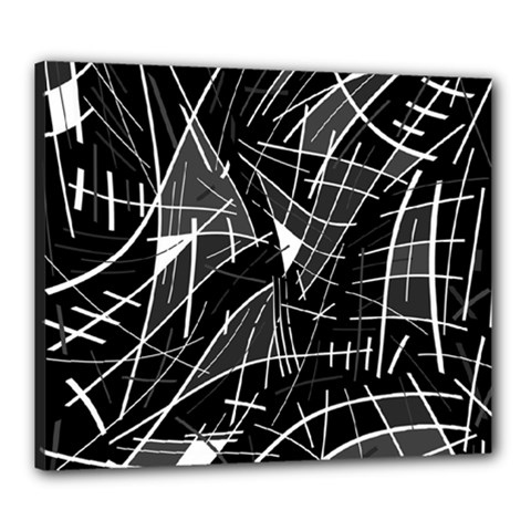Gray abstraction Canvas 24  x 20