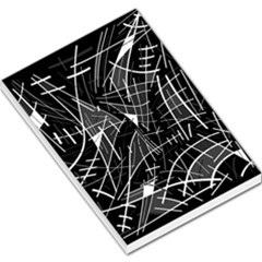 Gray abstraction Large Memo Pads