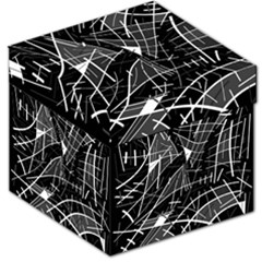 Gray abstraction Storage Stool 12