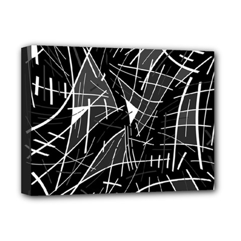 Gray abstraction Deluxe Canvas 16  x 12