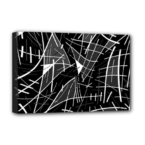 Gray abstraction Deluxe Canvas 18  x 12