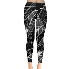 Gray abstraction Leggings