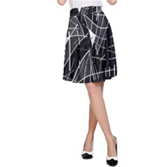 Gray abstraction A-Line Skirt