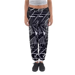 Gray abstraction Women s Jogger Sweatpants