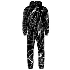 Gray abstraction Hooded Jumpsuit (Men)