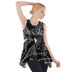 Gray Abstraction Side Drop Tank Tunic
